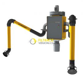 Stacionární filtrační jednotka Plymovent WallPro Double